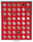 LINDNER 2548 Münzbox Münzboxen Standard 48x 2 / 10 EURO Cent 2 Pfennig 50 Pfennig in Münzkapseln