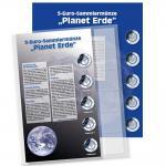 1 x SAFE 7360-1 Premium Münzblatt & Vordruckblatt Deutsche 5 Euromünzen Blauer Planet Erde 2016 Edition 2016 - 2021