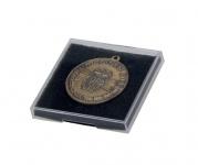 SAFE 8102 Kunsstoffetuis Sammeltuis + Schaumstoffeinlage 64x64x11 mm Für Orden Militaria Medaillen