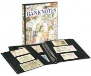 LINDNER 3701S Banknotenalbum mit 10 Klarsichthüllen Mix 850 & 851 mit schwarzen Zwischenblättern