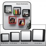 """SAFE 5327 Set Design Deko Präsentationsrahmen Würfel Cube Vintage Regal """" Quadro Schwarz """" S M L XL - L 26 - 31 - 36 - 41 cm x B 26 - 31 - 36 - 41 cm x T 19, 5 cm"""