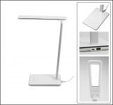 """SAFE 4667 LED Tischleuchte Tischlampe """" Design """" weiss mit 4 Lichtfarben & 4 Helligkeiststufen"""