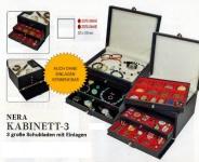 LINDNER 2373-2461E NERA KABINETT Sammelkassette Schmuckkassette Uhrenkassette 3 Schuber 2461E ohne Facheinteilung 220x280 mm