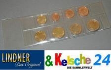 10 LINDNER Folienhüllen für Euro Kursmünzen Satz K7