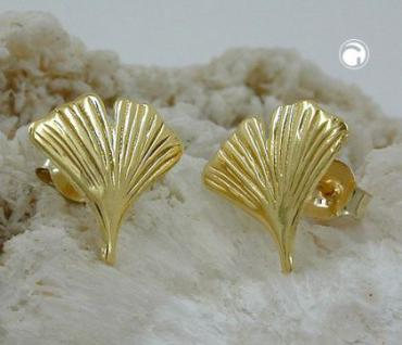 Gingko Ohrstecker 12, 00 mm 333 Gold