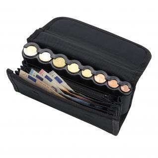 HMF 48811-02 Kellnerbörse Euro-Münzsortierer Tragegurt, Reißverschlussfach, Portemonnaie, Kellnertasche, 20, 5 x 10 x 6, 5 cm