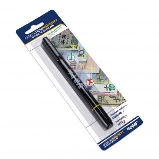 HMF 3600-02 Geldscheinprüfstift, Geldschein Schnelltester, 2 in 1 Geldprüfer inkl. Kugelschreiber