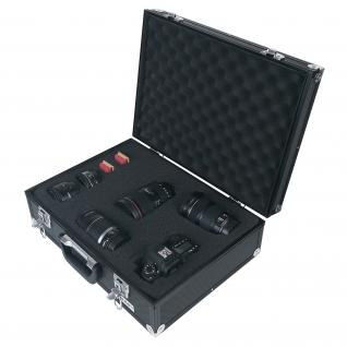 HMF 14501-02 Alu Fotokoffer, Waffenkoffer mit Rasterschaumstoff, Pistolenkoffer, Universalkoffer, 46 x 15 x 33 cm