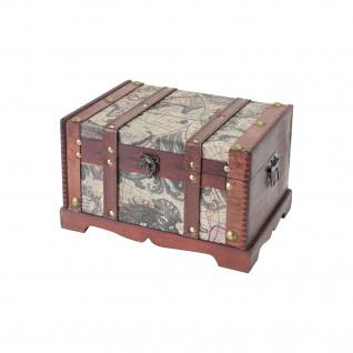 HMF 6408-129 Schatztruhe Schatzkiste, Holzkiste Amerika, 29 x 20 x 17 cm