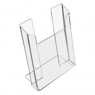 HMF 46961 Prospektständer, Prospekthalter DIN A5 Acryl, 16 x 19, 5 x 9 cm
