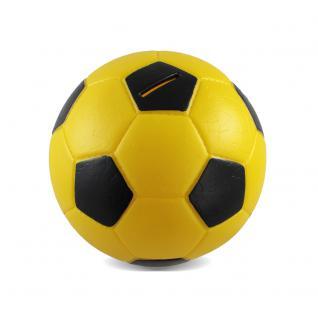 HMF 4790-17 Spardose Fußball Lederoptik, 15 cm, gelb