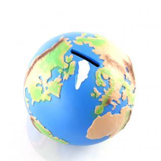 Globus Weltkugel Spardose 120 mm, bunt