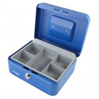 HMF 10120-05 Geldkassette Münzeinsatz, 20 x 16 x 9, 5 cm, blau