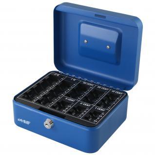 HMF 308-05 Geldkassette Euro-Münzzählbrett, 20 x 16 x 9 cm, blau