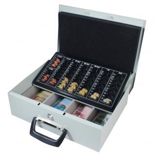 HMF 22035-07 Geldkassette 2 Tragegriffe, 35 x 27 x 11 cm, lichtgrau