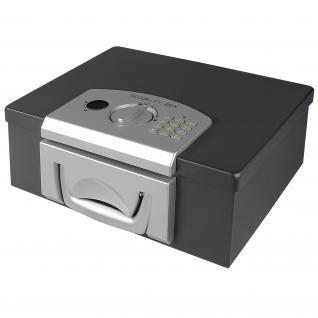 HMF 1006-02 Dokumentensafe Elektronikschloss, 32, 5 x 25, 5 x 12, 5 cm, schwarz