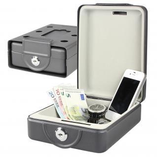 HMF 307-02 Anschraubbare Box, Camping Safe, 20 x 15, 5 x 7 cm, schwarz