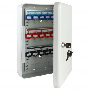 HMF 13030-07 Schlüsselkasten 30 Haken, 32 x 23 x 7, 5 cm, lichtgrau - Vorschau 2