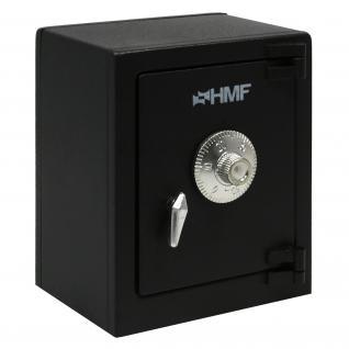 HMF 306-02 Minitresor Zahlenkombinationsschloss, 13, 5 x 11 x 8 cm, schwarz