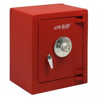 HMF 306-03 Minitresor Zahlenkombinationsschloss, 13, 5 x 11 x 8 cm, rot