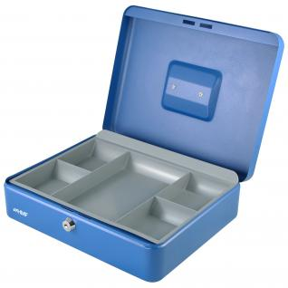 HMF 10130-05 Geldkassette Münzeinsatz, 30 x 24 x 9 cm, blau