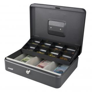 HMF 15130-02 Geldkassette Marktkassette, 30 x 24 x 9 cm, schwarz