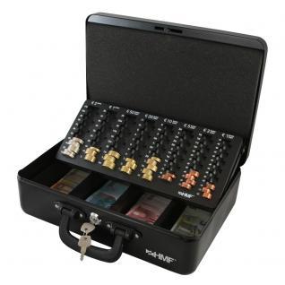 HMF Geldkassette Zählkassette Transportkassette, 360 x 250 x 110 mm, schwarz