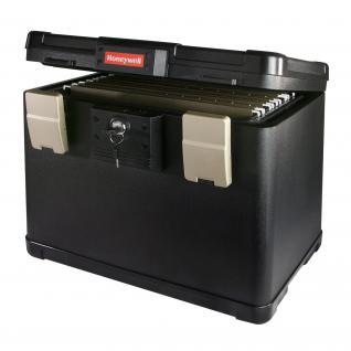 Honeywell 2511402 Feuerfeste Dokumentenkassette Register, 40, 7 x 32 x 32, 9 cm, schwarz