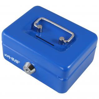 HMF 102122 Kindergeldkassette, 12, 5 x 9, 5 x 6 cm blau