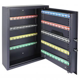 HMF 2100-07 Schlüsseltresor 100 Haken, 55 x 40 x 12 cm, anthrazit - Vorschau 2