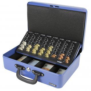 HMF Geldkassette Zählkassette Transportkassette, 360 x 250 x 110 mm, blau