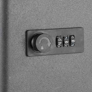 HMF 14500-02 Schlüsselkasten Zahlenkombinationsschloss, 45 Haken, 30 x 24 x 7, 5 cm, schwarz - Vorschau 3