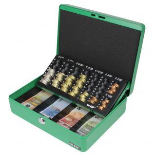 HMF 10015-06 Geldkassette Euro-Münzzählbrett, 30 x 24 x 9 cm, grün