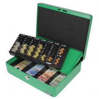HMF 10015-06 Geldkassette Euro-Münzzählbrett, 30 x 24 x 9 cm, grün - Vorschau 2