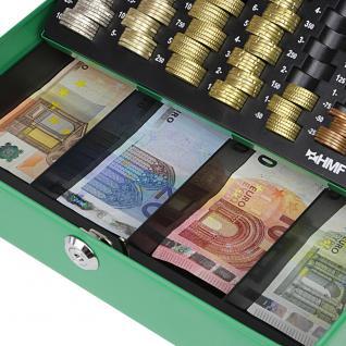HMF 10015-06 Geldkassette Euro-Münzzählbrett, 30 x 24 x 9 cm, grün - Vorschau 5