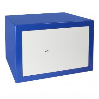 HMF 43100-0501 Möbeltresor Safe Doppelbartschloss, Sicherheitsstufe B, VDMA 24992, 42 x 30 x 38 cm, Tresor, Blau Weiß - Vorschau 2