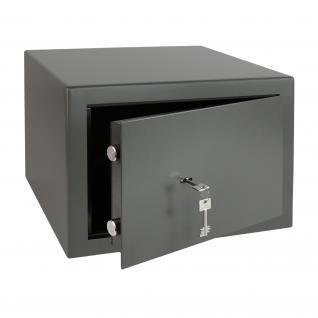 HMF 43100-1111 Möbeltresor Safe Doppelbartschloss, Sicherheitsstufe B, VDMA 24992, 42 x 30 x 38 cm, Tresor, Anthrazit
