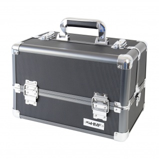 HMF 14901-02 Schminkkoffer, Alu Beauty Case, Kosmetikkoffer, Universalkoffer, 33 x 22, 5 x 24 cm