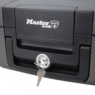 Master Lock LCHW20101 Feuerfeste Dokumentenkassette, Dokumentenbox, DIN A4, 39, 1 x 36, 3 x 16, 8 cm, schwarz - Vorschau 5
