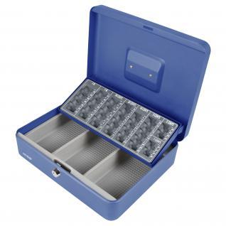 HMF 4215-05 Geldkassette Euro-Münzzählbrett, 30 x 24 x 9 cm, blau