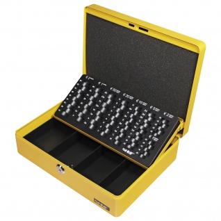 HMF 10015-17 Geldkassette Euro-Münzzählbrett, 30 x 24 x 9 cm, gelb