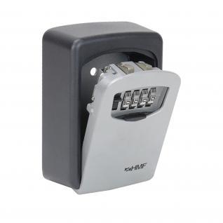 HMF 326-02 Schlüsselbox 4er Zahlenkombination, 12, 2 x 8, 7 x 4 cm, Schlüsselkasten, schwarz - Vorschau 4