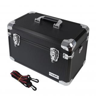 HMF 14801-02 Alu Aufbewahrungsbox, Transportkoffer, verstellbare Facheinteilung, Universalkoffer, 40 x 27, 5 x 23, 5 cm