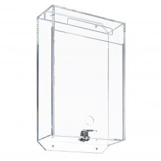 HMF 46918 Spendenbox Acryl, Pfandmarkenbox, Meckerkasten, Losbox, 31, 5 x 18 x 7 cm