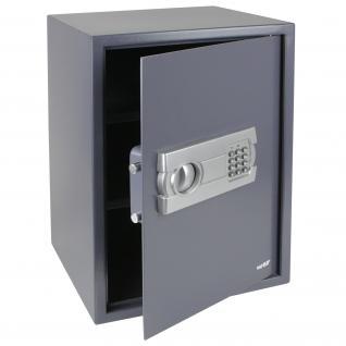 HMF 4612512 Möbeltresor Elektronikschloss, 50 x 35 x 31 cm, Safe, anthrazit
