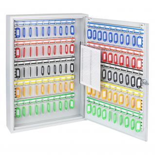 HMF 135100-07 Schlüsselschrank 100 Haken, 55 x 38 x 8 cm, lichtgrau