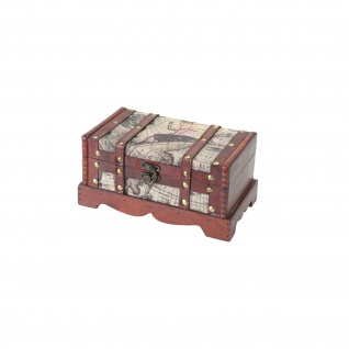 HMF 6408-123 Schatztruhe Schatzkiste, Holzkiste Amerika, 23 x 13 x 11 cm