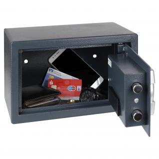 HMF 4612112 Möbeltresor Elektronikschloss, 31 x 20 x 20 cm, anthrazit - Vorschau 3