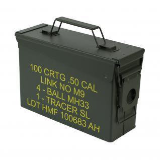 HMF 70010 Munitionskoffer, US Ammo Box, Metallkiste, 27, 5 x 17, 5 x 9, 5 cm, grün