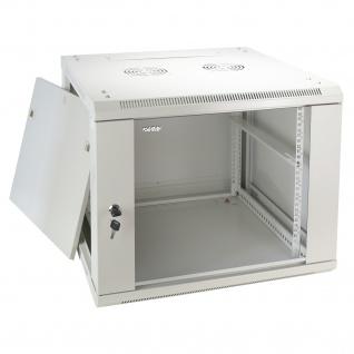 HMF 66609-07 Serverschrank 19 Zoll, 9 HE, Netzwerkschrank, 60 x 60 x 50 cm, lichtgrau - Vorschau 2